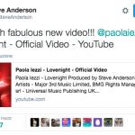 Steve Anderson sul video di Lovenight