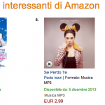 Se perdo te – classifiche Amazon