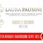 Paola Iezzi ospite di RTL 102.5 per il concerto di Laura Pausini