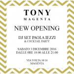 Paola Iezzi special DJ set – Tony Magenta Boutique – Magenta (MI)