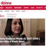 Paola Iezzi su PianetaDonna.it
