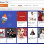 """""""A Merry Little Christmas"""" nella sezione Album e brani natalizi di Google Play"""