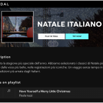 """Have Yourself a Merry Little Christmas"" nella playlist Natale Italiano di Tidal"
